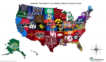 Map provided by CollegeFinder.