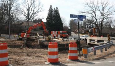 Chain Bridge Road construction