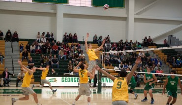 Mason men's volleyball vs. University of Puerto Rico - Mayaguez (photos by Amy Rose)