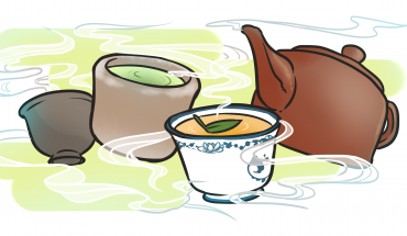 In honor of International Week, the Confucius Institute at Mason hosted a special cultural workshop on tea on April 11 (Illustration by Katryna Henderson).