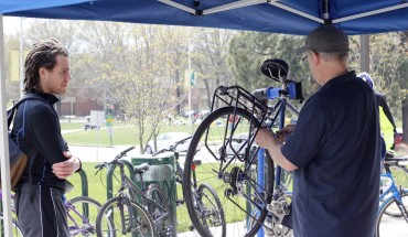 Bike lovers across Mason joined together in health and fitness for the seventh annual Bike to Mason Day event (photo by Amy Rose).