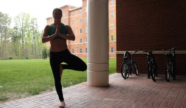 Members of Mason's yoga community offer various views on what yoga means to them  (photo by Amy Rose).