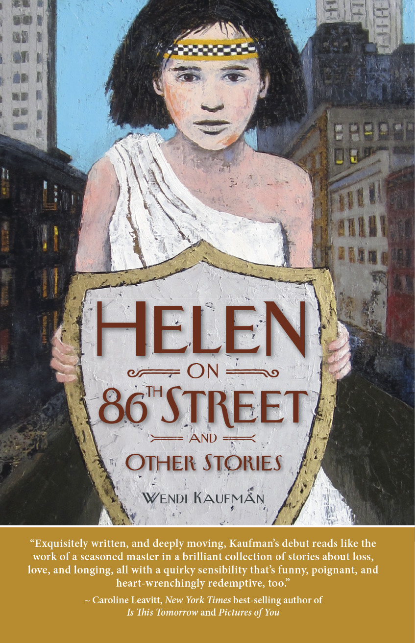 """Helen on 86th Street and other stories,"" by Wendi Kaufman. Cover designed by Paul Gormont, with art from Sheep Jones."