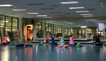 Gwen Stone teaches Pilates and Yoga at the Aquatic and Fitness Center