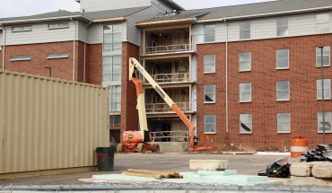 Construction continues at Taylor Hall