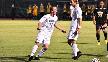 Mason captain and leading goal scorer Timi Mulgrew leads the men's soccer team by example.(Johannah Tubalado/ Fourth Estate)