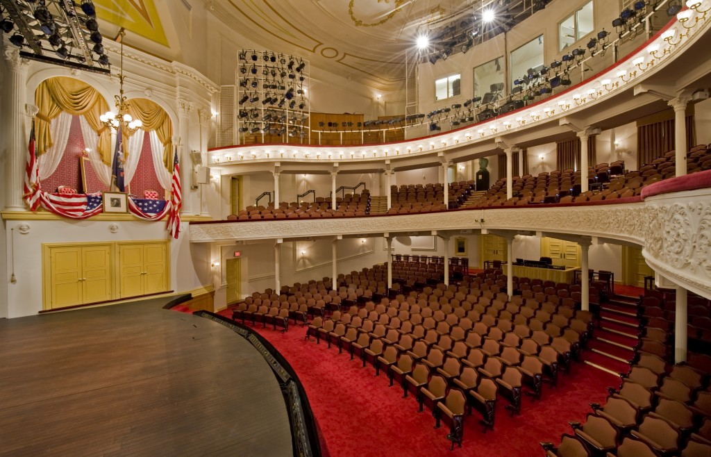 View from the stage of the President's Box at Ford's Theatre. Photo credit: Maxwell MacKenzie.