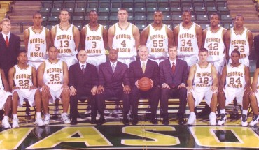 Official photo of the Final Four team/ Courtesy of George Mason Athletic Department records.