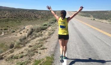 Colleen running through Nevada