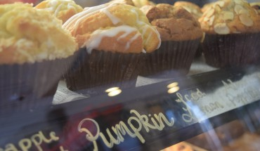 De Clieu Coffee Shop in downtown Fairfax offers a range of treats, including seasonally- appropriate pumpkin muffins.