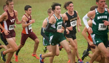 """The men's cross country team during last year's Mason Invitational. Courtesy: George Mason Athletics"""