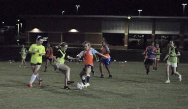 The women's club soccer team in action during practice held September 14. Credit: Dave Schrack, IV Estate