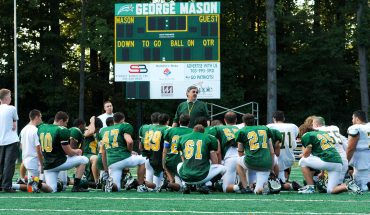 The George Mason University Football program has existed since 1993 and is a member of the Sea Board Conference and the National Club Football Association, Mid-Atlantic Conference. Photo Courtesy of Creative Services
