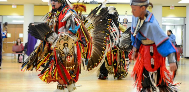 The 11th Annual Veterans' Powwow at the Fairfax campus. Photo by Alexis Glenn/Creative Services/George Mason University