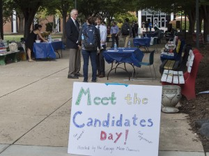 Democratic candidates appeal to Mason students for either election or re-election as part of Meet the Candidates Day. (Alya Nowilaty/Fourth Estate)