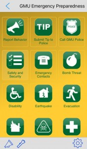 A screenshot of Mason's page in the In Case of Crisis mobile safety app.