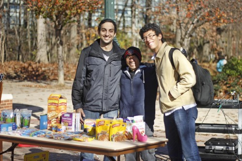 Students collect food and money for Mason's Pop Up Pantry as part Hunger and Homelessness Action Week.