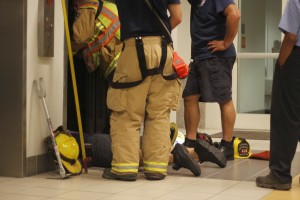 On Sept. 9, firefighters rescued Mason alum Marcela Serpa and a friend from a stalled elevator in the Johnson Center. Serpa and her friend were stuck between floors and were trapped for one hour before they were safely released. (Amy Rose/Fourth Estate)