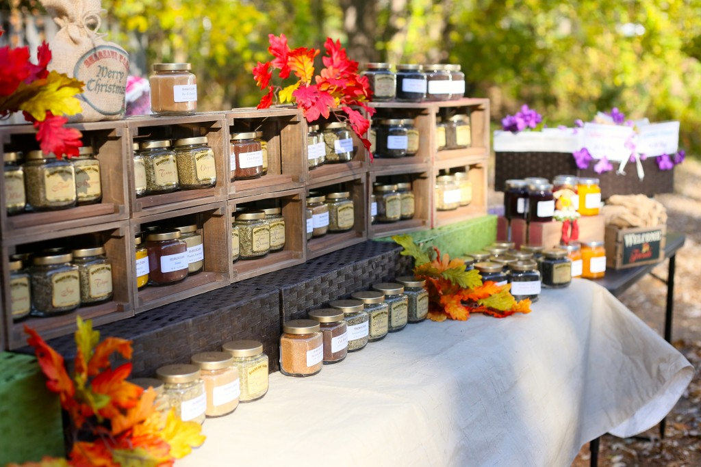 Spices, herbs, jams and more! PC Naomi Folta