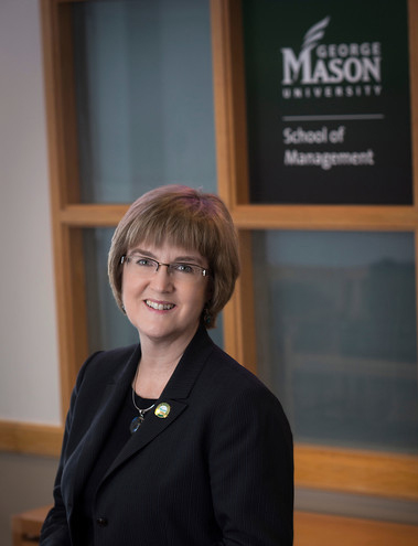 Sarah E. Nutter, Dean, School of Management. Photo by Evan Cantwell/Creative Services/George Mason University
