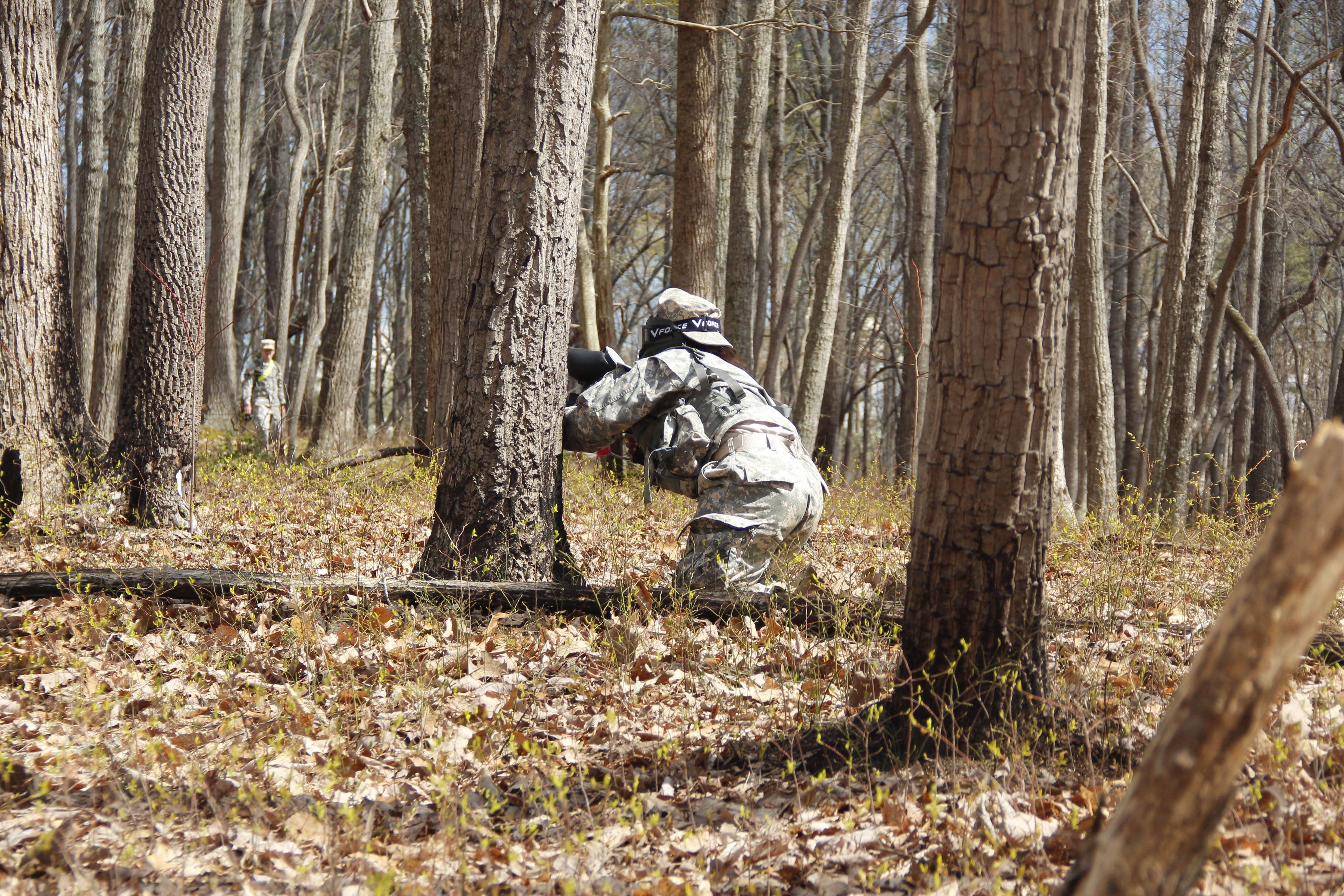 Patience and paintball: Mason cadets undergo leadership training at Fort AP Hill